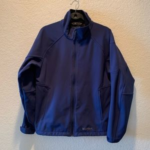 Marmot navy blue soft shell jacket, size M